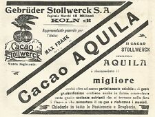 Y2159 Cacao Stollwerck marca Aquila - Pubblicità del 1903 - Old advertising