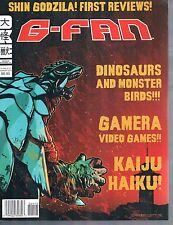 G-Fan #113 Godzilla Fan Magazine Shin Godzilla Reviews Gamera Video Games 2016