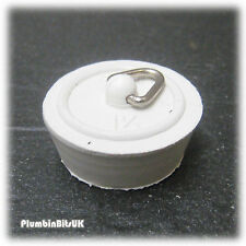 """REPLACEMENT BATH BASIN SINK 1-1/4"""" 32mm ACTUAL SIZE WHITE RUBBER WASTE PLUG"""