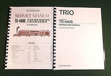 Kenwood TS-440S Instruction & Service Manuals: Card Stock Covers & 32 LB Paper!