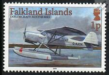 Taylorcraft Auster Mk5 Aviones Avion Hidroavión Sello de menta (Islas Malvinas)