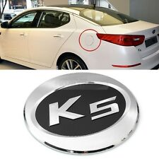 K5 Logo Chrome Fuel Gas Cover Tank Cap Molding Garnish For KIA 2011-15 Optima K5