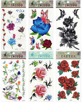 Roses Flowers Thorns Tattoo Mix Bundles Cool Sexy Temporary Tattoos