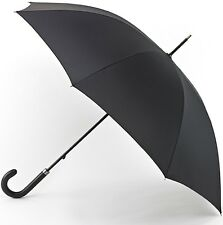 Fulton Governor Gents Hook Handle Walking Umbrella - Black