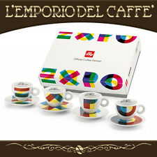 Set illy Caffè Espresso Cups 4Tazzine Piattini Art Collection Expo Milano B1824