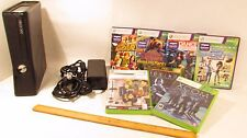 Microsoft Xbox 360 Slim/Matte Black Console NO CONTROLLERS 7Games &Cables Incl.
