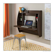 Computer Desk Floating Wall Mount Shelves Home Office Storage Furniture Espresso