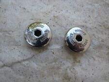 SR CHROME  CRANK CAPS BMX CRUISER FREESTYLE VINTAGE RACE RACING BICYCLE DUST