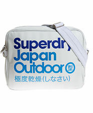 New Unisex Superdry Unique Sample Alumni Outdoor Bag White