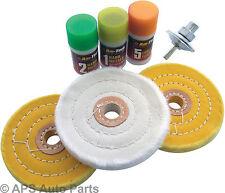 7pc Pulidor De Metal Set Pulido Fresas Buffer limpia Nueva Plancha Acero almohadillas de pulido