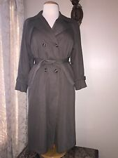 Women's 12p London Fog Double Breasted Trench Coat * Gabriella * Raglan Sleeves
