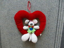 Soft toy or decoration hang up - Diddl into big red heart - like new !