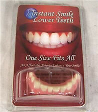 Instant Smile Teeth BOTTOM Veneers Fake Cosmetic Photo Perfect EASY NOVELTY FUN