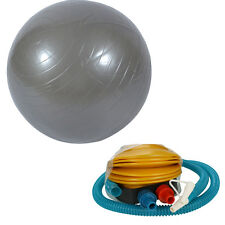 85cm Balance Stability Ball for Yoga Fitness &Exercise Silver-gray With Air Pump