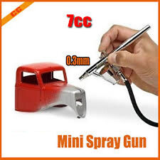 Airbrush Spray,Gun Sprayer Tattoo Nail Painting-DIY Tool Kit,0.3mm 7cc Air Brush