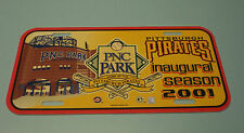 PIRATES 2001 PNC PARK INAUGURAL LICENSE PLATE