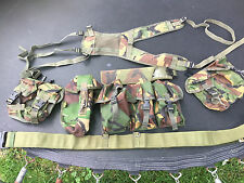 British Army woodland camo webbing  DPM Pouches