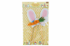 Easter Bunny Photo Props Felt Kit & Stick Novelty Fun Party Booth Face Game
