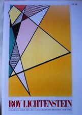 Roy Lichtenstein 1987/89 ART / Leo Casteelli Poster 20.8X 34.7cm Pop Art.   P:91