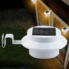 Solar Power Wall Mount LED Light Outdoor Garden Path Landscape Fence Yard Lamp