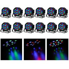 12pcs 18 LED RGB PAR CAN DJ Stage DMX Lighting For Disco Party Wedding Uplight