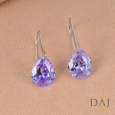 925 Sterling Silver Swarovski Element Purple Stunning Earring Set 1126 CH 05