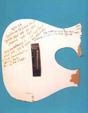 NIRVANA POSTER PAGE KURT COBAIN SMASHED GUITAR . NEVERMIND . N20