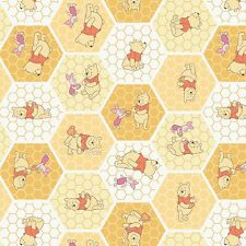 Disney Fabric - Winnie the Pooh & Friends - Chamomile Tea Time - 100% Cotton