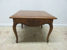 Vintage Brandt Country French Carved Rustic Lamp End Table Regency  B