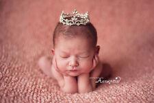 Mini Tiara Crown for Newborn - Baby Photo Prop Crystal and Rhinestone Round 4003