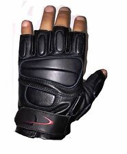 Tactical Fingerless Padded Knuckle Half Finger Gloves Size Large
