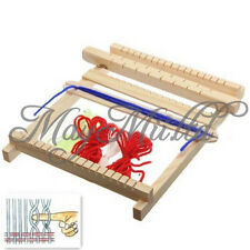 Traditional Wooden Weaving Toy Loom with Accessories Childrens Craft Box New G