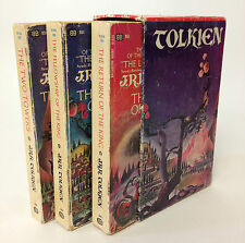 Vintage 1970's Tolkien The Lord of The Rings Softcover Ballantine Book Box Set