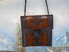 New Leather Envelope Purse Crossbody Appears To Be Hand Made Unusual Beautiful