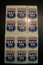 12 BURGLAR ALARM 24 hour SECURITY SURVEILLANCE DECAL STICKER ADT 'L decals avail