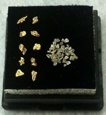 NATURAL ALASKAN GOLD NUGGETS AND DIAMOND CHIP LOT.  L92