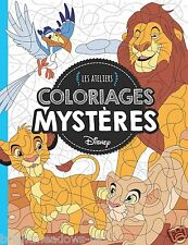 Disney Animals Adult Colouring Book French By Number Hidden Images Puzzle Lion