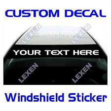 Custom Text Windshield Decal Only for the Sun Visor Strip Area d