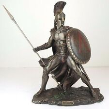 "Leonidas Greek Spartan Warrior King Bronze Figurine Miniature Statue 13""H New"
