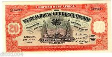 British WEST AFRICA Billet 20 SHILLINGS 02/06/ 1933  P8a FORGERY XF / SUPERBE