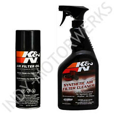 K&N AIR FILTER LARGE SIZE SERVICE KIT CLEANER AND OIL