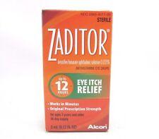 Zaditor Antihistamine Eye Drops Eye Itch Relief 12 Hours 0.17oz, 5ml