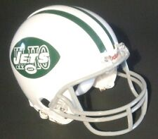 """NEW YORK JETS 1968 """"HI-HO"""" FOOTBALL MINI HELMET USED BY ONE PLAYER THAT YEAR"""