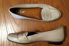 RALPH LAUREN Womens BEIGE Ivory Leather Loafers Flats Shoes Size 5 B ethankeith1