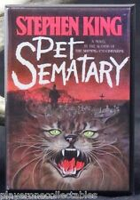 "Pet Sematary Book Cover 2"" X 3"" Fridge / Locker Magnet. Stephen King"