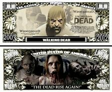WALKING DEAD Novelty Dollar Bill with Protector and Free Shipping