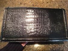 Banana Republic Clutch Purse Bag Black Textured Patent Leather NEW w/TAGS!  $130