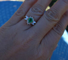 .75ct Genuine Emerald, .45ct H/Si1 Diamond Ring 14k YG