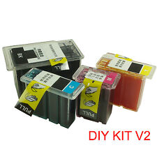 For CANON PG-210 510 512 810 CL-211 511 513 811 ink cartridge refill kit DIY V2
