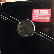 MARTHA AND THE MUFFINS • Black Stations White Stations • Vinile 12 Mix • 1984